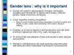 gender lens why is it important