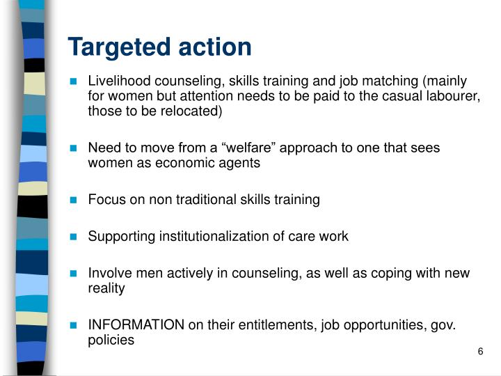 Targeted action