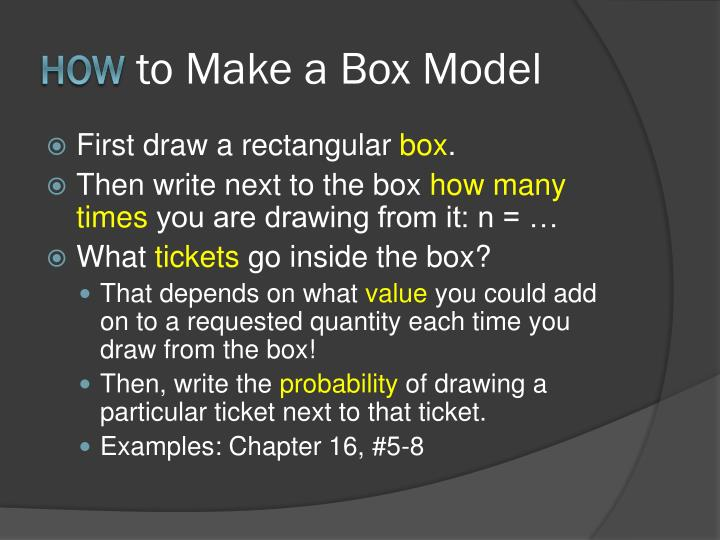 How to make a box model