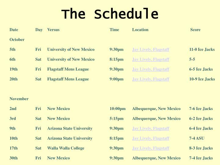 Ice Jacks Games Schedule