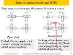 back to valence bond and gvb