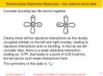 homonuclear diatomics molecules the valence bond view