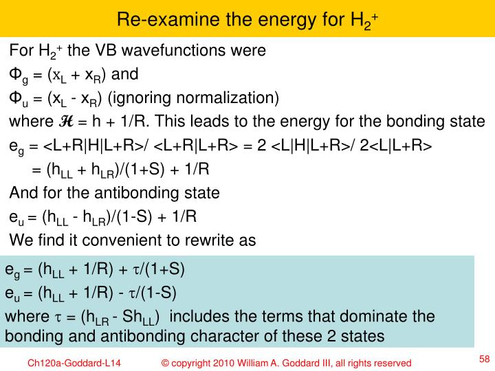 Re-examine the energy for H