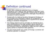 definition continued