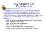 key agencies and organizations