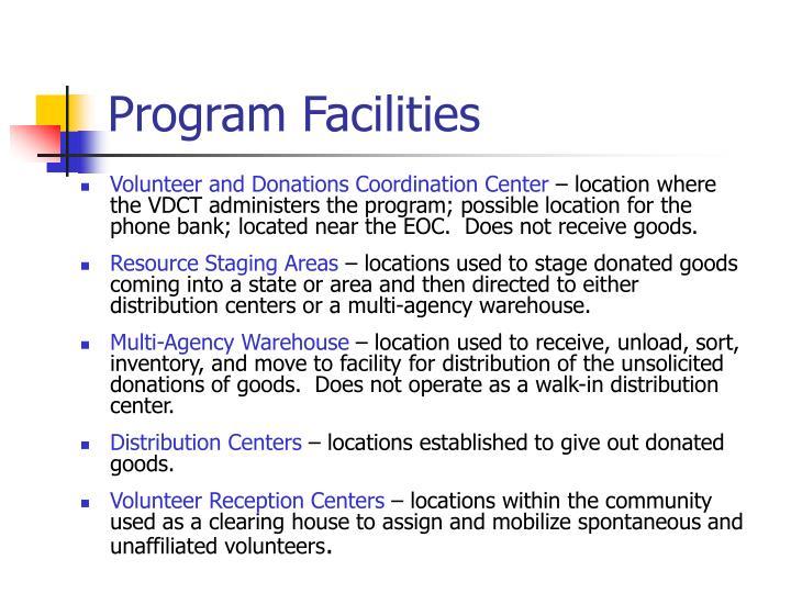 Program Facilities