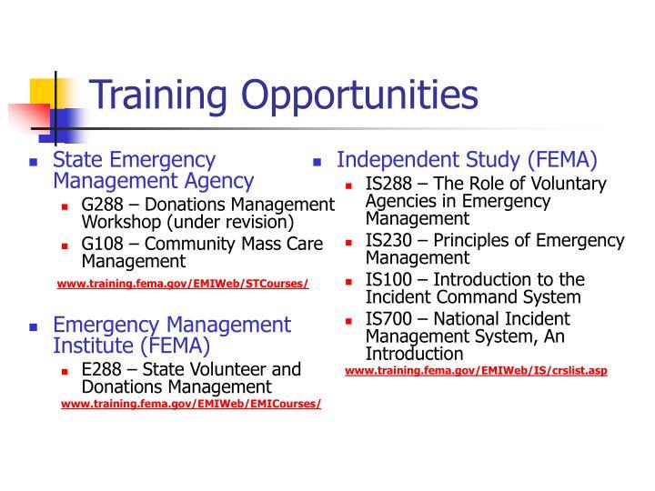 Independent Study (FEMA)