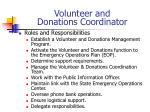 volunteer and donations coordinator