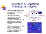 volunteer donations management system