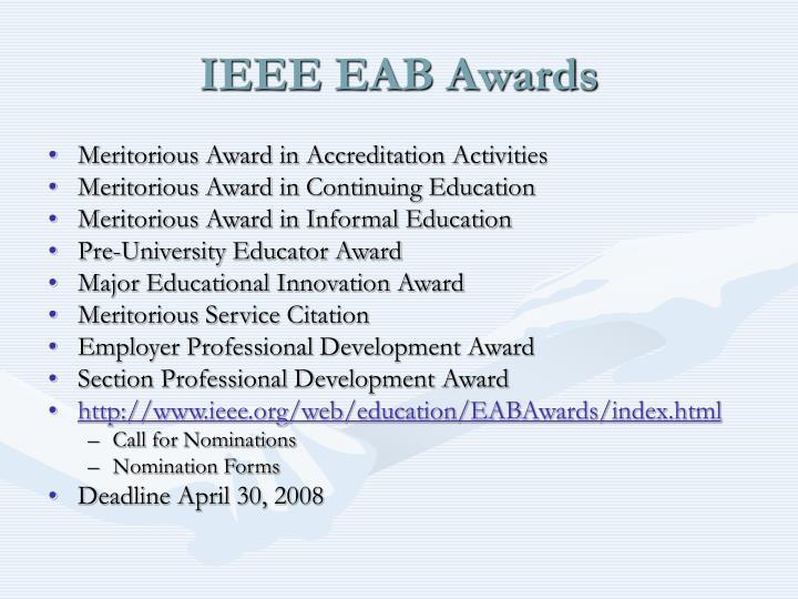 IEEE EAB Awards