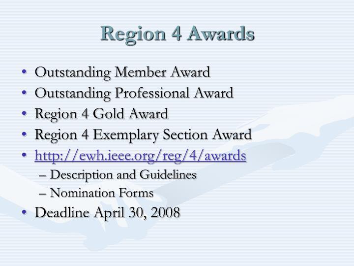 Region 4 Awards