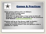games practices