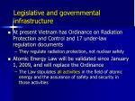 legislative and governmental infrastructure
