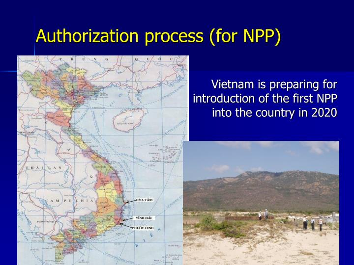 Authorization process (for NPP)