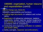 varans organization human resource and responsibilities cont d1