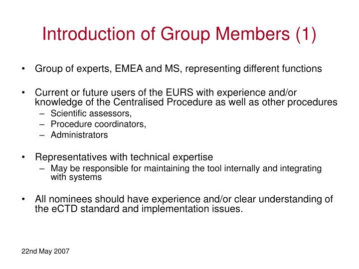 Introduction of Group Members (1)
