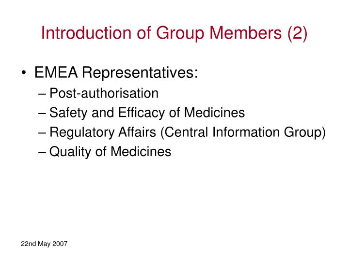 Introduction of Group Members (2)
