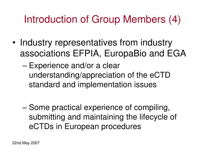 Introduction of Group Members (4)