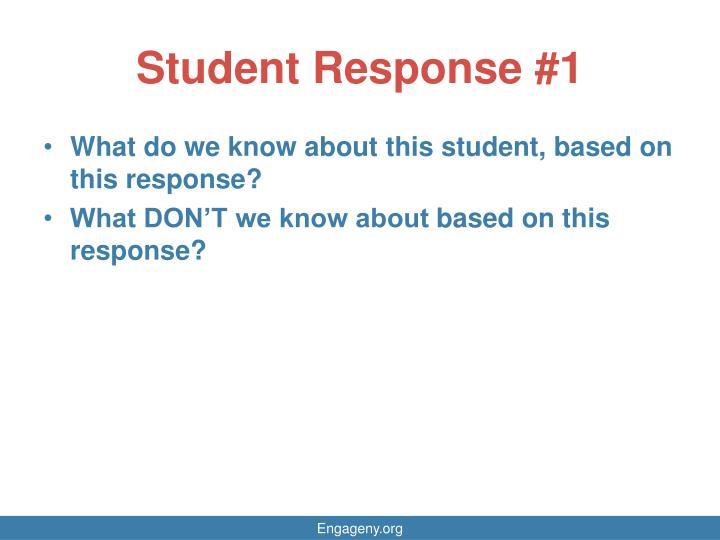 Student Response #1