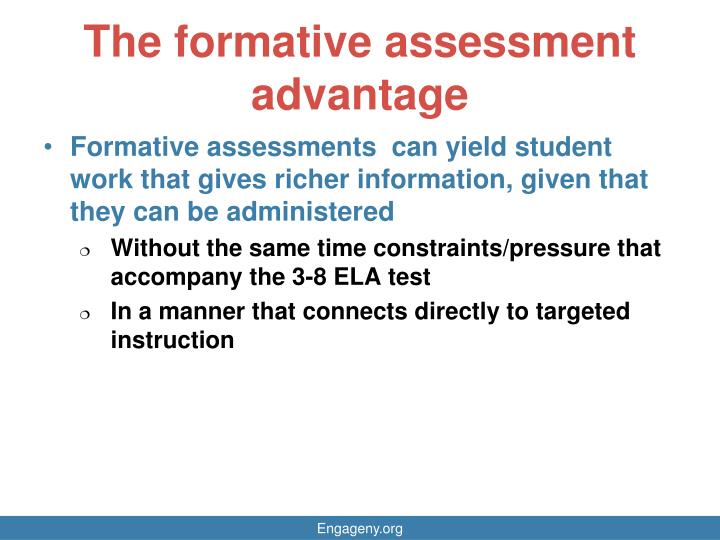 The formative assessment advantage