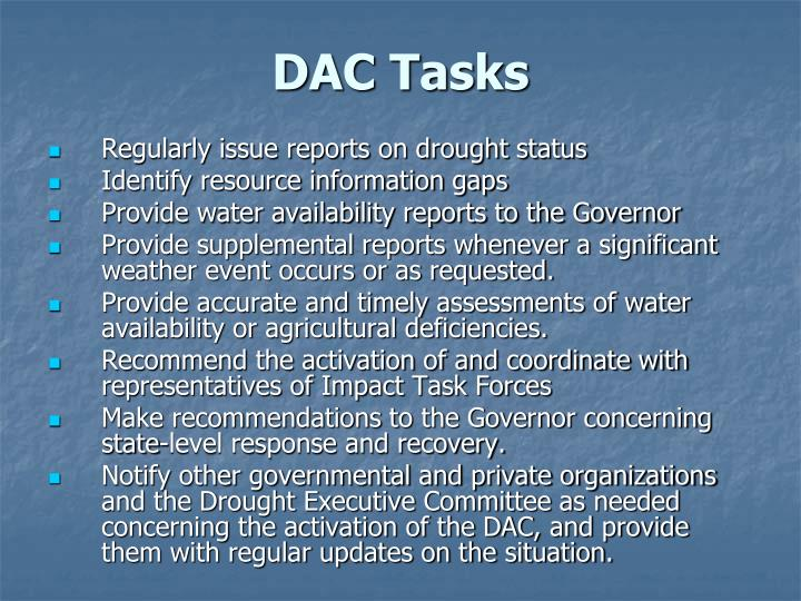 DAC Tasks