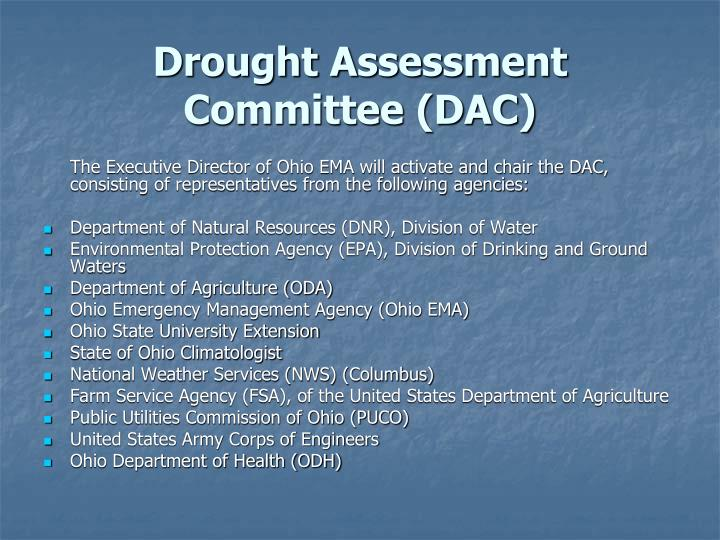 Drought Assessment Committee (DAC)