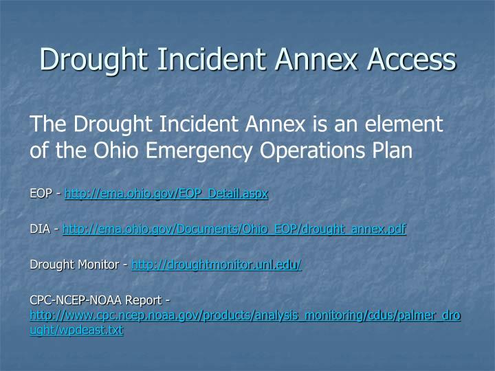 Drought Incident Annex Access