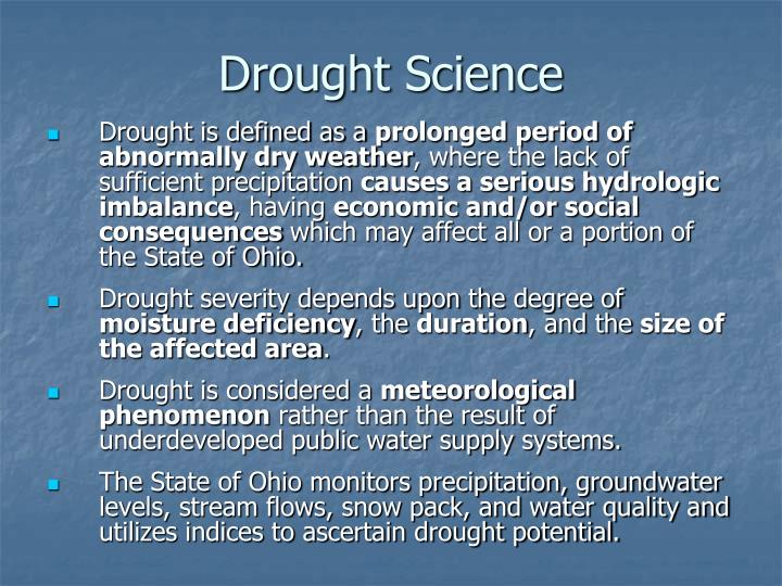 Drought Science
