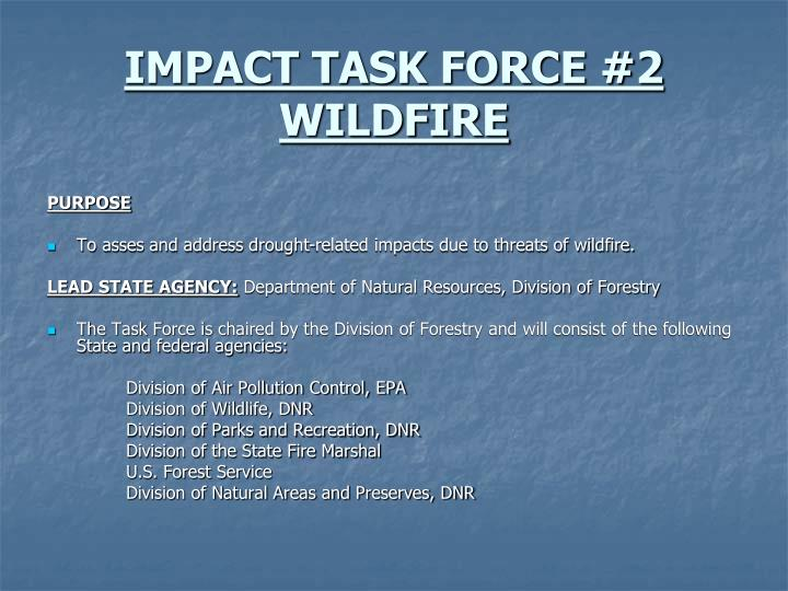 IMPACT TASK FORCE #2 WILDFIRE