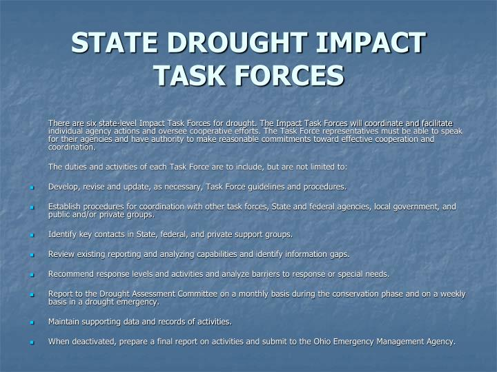 STATE DROUGHT IMPACT