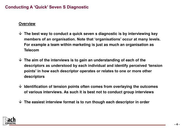 Conducting A 'Quick' Seven S Diagnostic