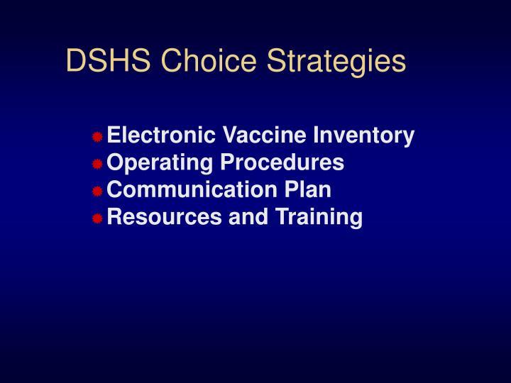 DSHS Choice Strategies