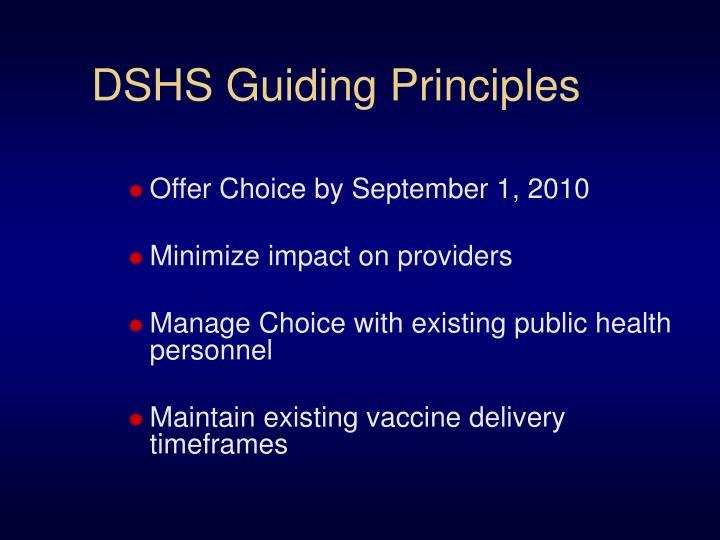 DSHS Guiding Principles