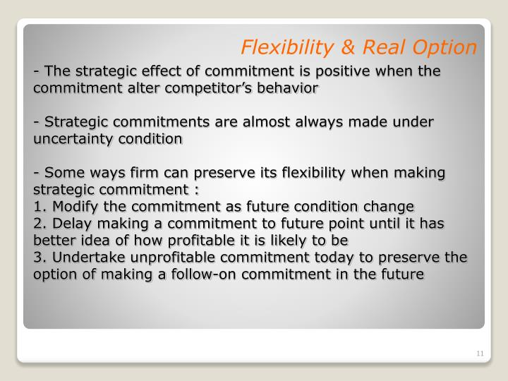 Flexibility & Real Option