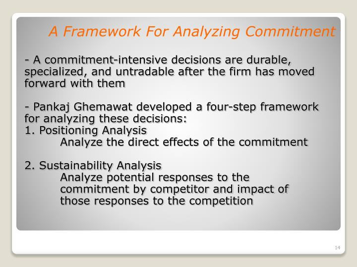 A Framework For Analyzing Commitment