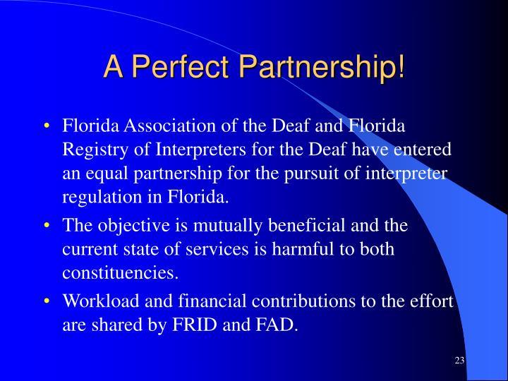 A Perfect Partnership!
