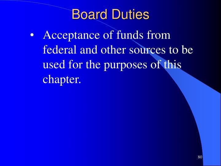 Board Duties