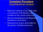complaint procedure unprofessional conduct3