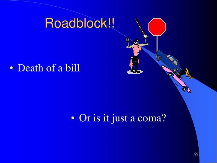 Roadblock!!