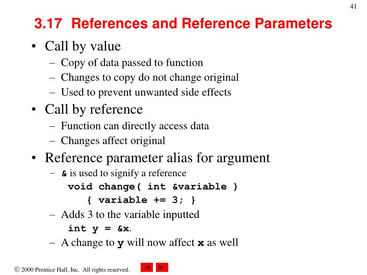 3.17	References and Reference Parameters