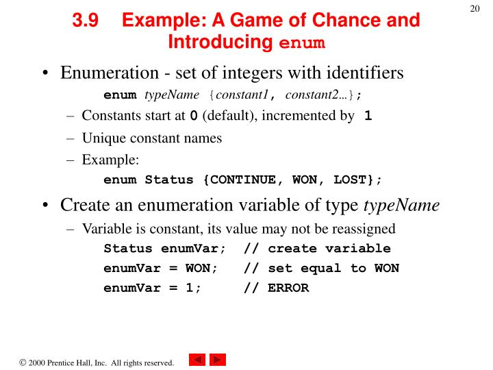 3.9	Example: A Game of Chance and Introducing