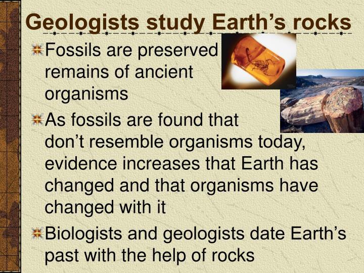 Geologists study Earth's rocks