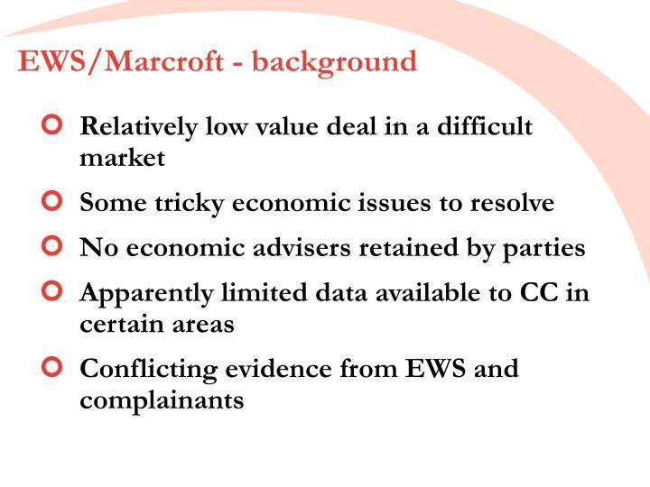 EWS/Marcroft - background