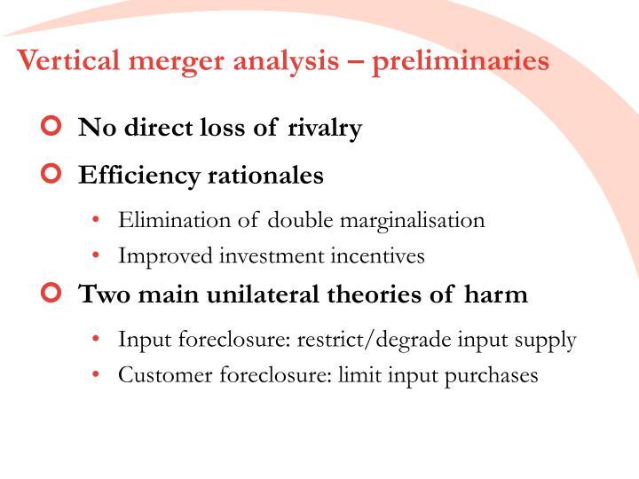 Vertical merger analysis – preliminaries