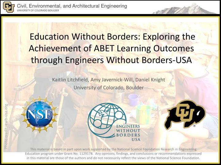 Education Without Borders: Exploring the Achievement of ABET Learning Outcomes through Engineers Without