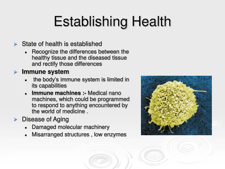 Establishing Health