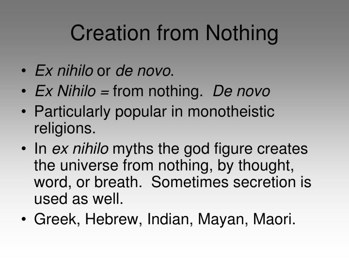 Creation from Nothing