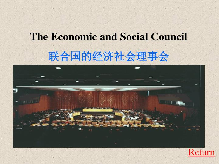 The Economic and Social Council
