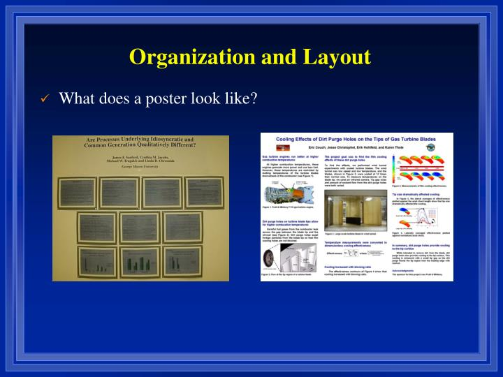 Organization and Layout