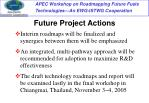 future project actions